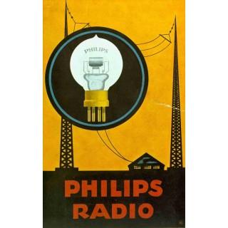 Philips Radio vintage advertisement metal tin sign