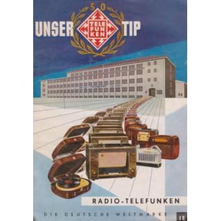 Telefunken  Radio vintage advertisement metal tin sign