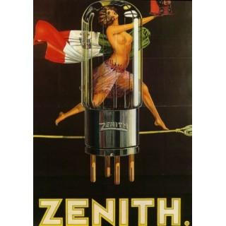 1920s Zenith Radio Tube vintage advertisement metal tin sign