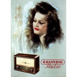 Grundig Radio vintage advertisement metal tin sign