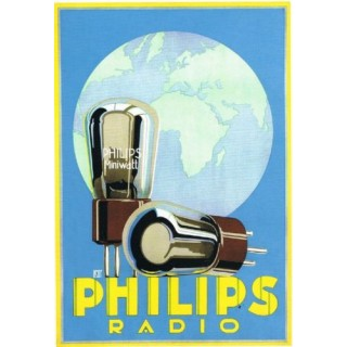 Philips Radio vintage advertisement metal tin sign poster