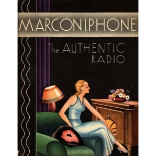 Marconiphone Radio vintage advertisement metal tin sign poster