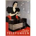 Telefunken  Radio vintage advertisement metal tin sign poster