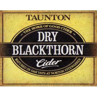 Dry Blackthorn Cider vintage alcohol metal tin sign poster