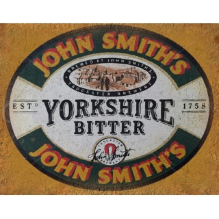 John Smith's Yorkshire Bitter vintage alcohol metal tin sign poster