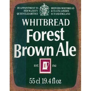 Whitbread Forest Brown Ale vintage alcohol metal tin sign poster