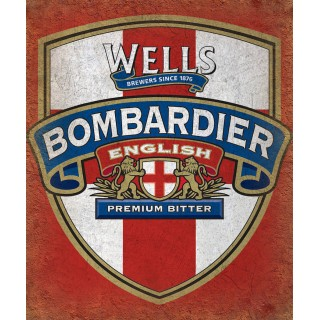 Wells Bombardier English Premium Bitter  alcohol metal tin sign poster