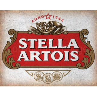 Stella Artois beer alcohol metal tin sign poster