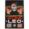 Alba Leo  Cigarettes vintage tobacco  metal tin sign poster