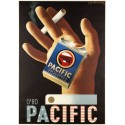 Pacific Cigarettes vintage tobacco  metal tin sign poster