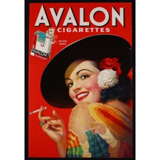 Avalon Cigarettes vintage tobacco  metal tin sign poster