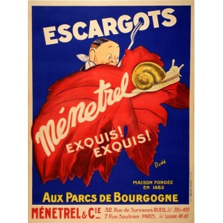 Escargots vintage French food metal tin sign poster