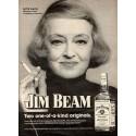 Jim Beam Bette Davis whiskey vintage alcohol metal tin sign poster