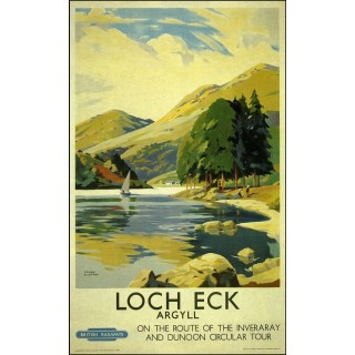 Loch Eck Agryll British Railways metal tin sign poster