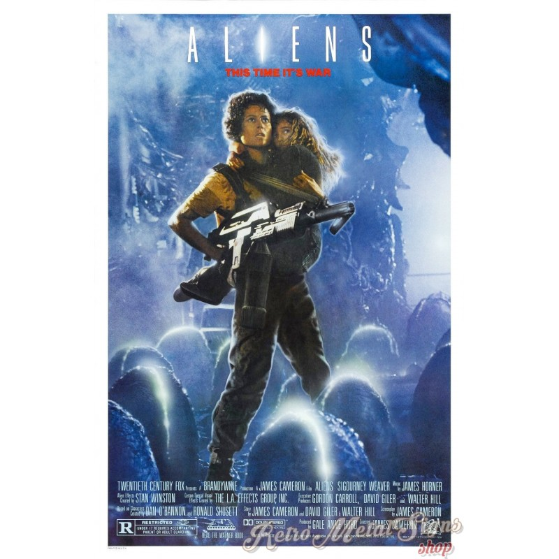 Alien Movie: Alien 2 Movie Film Metal Tin Sign Poster Plaque