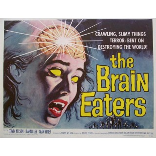 The Brain Eaters film metal tin sign poster plaque