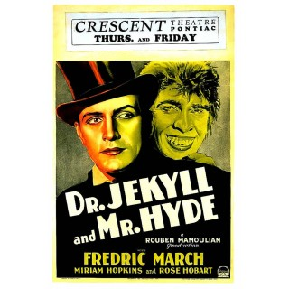 Dr. Jekyll and Mr. Hyde movie film metal tin sign poster plaque