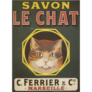 savon-le-chat-soap-metal-tin-sign