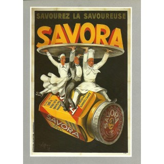 Savora mustard vintage French food metal tin sign poster
