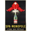 Spa Monopole vintage drink metal tin sign poster wall plaque