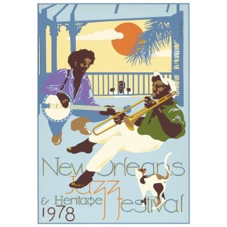 New Orleans Jazz Festival 1978 metal tin sign poster wall plaque