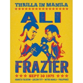 Frazier vs Ali 1975 Championship metal tin sign poster