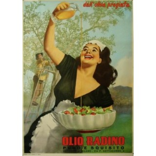 Olio Radino Italian Olive Oil metal tin sign poster wall plaque