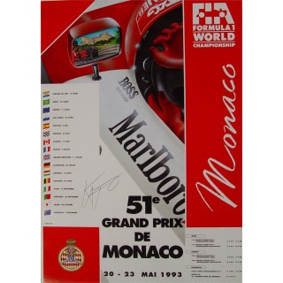 1993 Grand Prix Monaco Marlboro  metal tin sign poster plaque