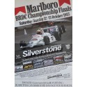 1985 Silverstone Grand Prix metal tin sign poster plaque