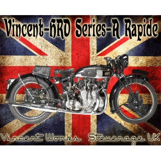 Vincent HRD Series A Rapide vintage metal tin sign poster plaque