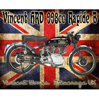 vincent-htd-988cc-rapide-b-metal-sign
