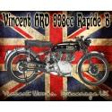 Vincent HTD 988CC Rapide B vintage metal tin sign poster plaque