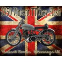 Vincent TT Grey Flash vintage metal tin sign poster plaque