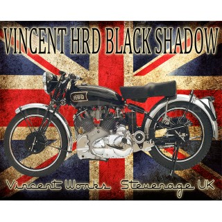 Vincent Motorcycle by Terry Pastor Laser-Cut Metal Sign
