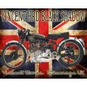 Vincent HRD Black Shadow vintage metal tin sign poster plaque