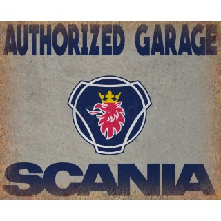 Scania Authorized Garage vintage metal tin sign wall plaque