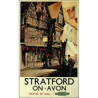 Stratford on Avon metal tin sign poster plaque