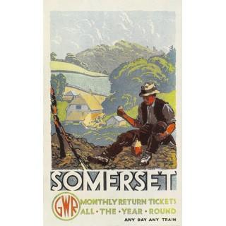 Somerset GWR Railway metal tin sign poster plaque