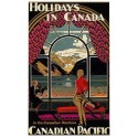 Holidays in Canada vintage travel metal tin sign poster