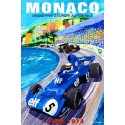 Monaco Grand Prix 1973 Elf metal tin sign poster plaque