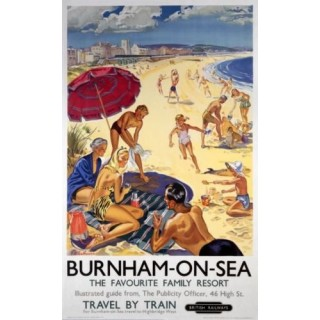 Burnham On Sea British Railways  metal tin sign poster plaque