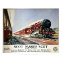 Scot Passes Scot LMS Vintage Railways  metal tin sign poster plaque