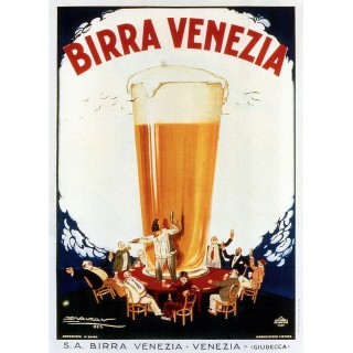 Birra Venezia beer vintage alcohol metal tin sign poster