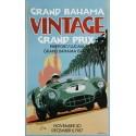 Grand Bahama vintage grand prix metal tin sign poster plaque