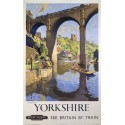 Yorkshire by Train British Railways  metal tin sign poster plaque