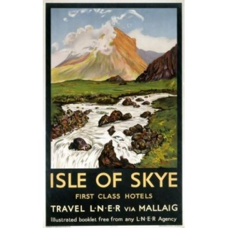 Isle of Skye Railways metal tin sign poster