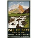 Isle of Skye Railways metal tin sign poster