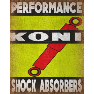 Koni Shock Absorbers vintage garage metal tin sign wall plaque