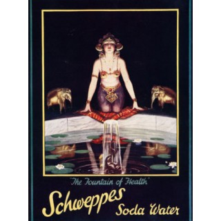 Schweppes Soda Water vintage drink metal tin sign poster wall plaque