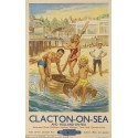 Clacton on Sea British Railways vintage travel metal tin sign poster plaque